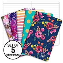 """Pocket Notebook/Pocket Journal - 3.5""""x5.5"""" - Assorted Patterns - Lined Memo Field Note Book"""