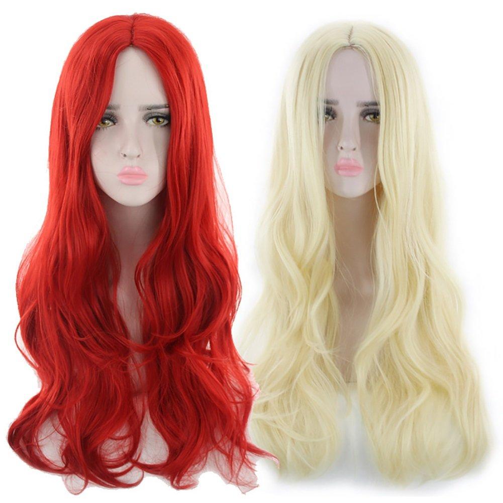 Rizos de la peluca Fibra quimica media larga Fibra quimica de alta ...