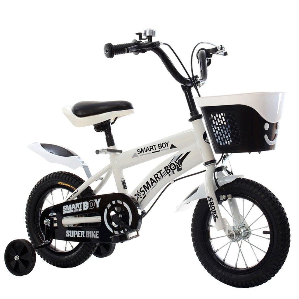 KANGR-子ども用自転車 子供の自転車アウトドアマウンテンバイク2-3-6-8ボーイズとガールズ子供用玩具調節可能ハンドルバー/トレーニングホイール付きサドル-12 / 14/16/18インチ ( 色 : 白 , サイズ さいず : 12 inch ) B07BTRLR7S 12 inch|白 白 12 inch