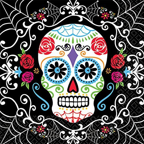 amscan Day of The Dead Beverage Napkins (36 Pack) -