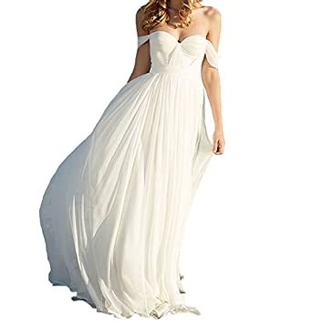 Vweil 2018 Simple Vestido De Novia Beach Chiffon Bridal Wedding Dresses For Brides VD30 at Amazon Womens Clothing store:
