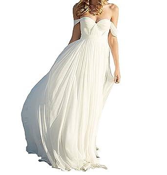 Vweil 2018 Simple Vestido De Novia Beach Chiffon Bridal Wedding Dresses For Brides VD30 at Amazon Womens Clothing store: