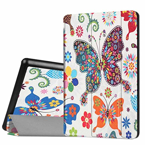 Price comparison product image For Amazon Kindle Fire HD 8 Inch Tablet 2016, GBSELL Stylish Print Flip Leather Case Cover Holder (F)
