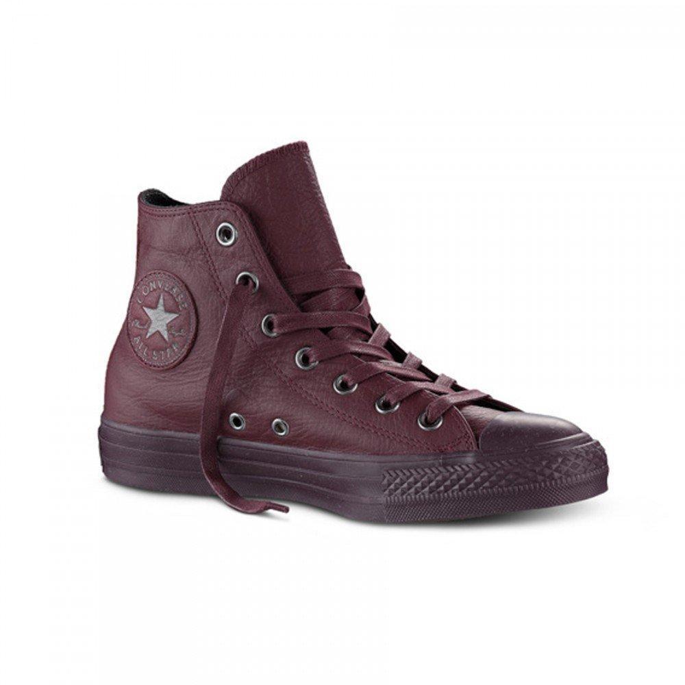 Converse All Star Hi Leather - Zapatillas Abotinadas Unisex Adulto 36|Bordeaux