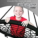 M & M Sales Enterprises Elite Stainless Steel Web Riderz Swing Platform, Black