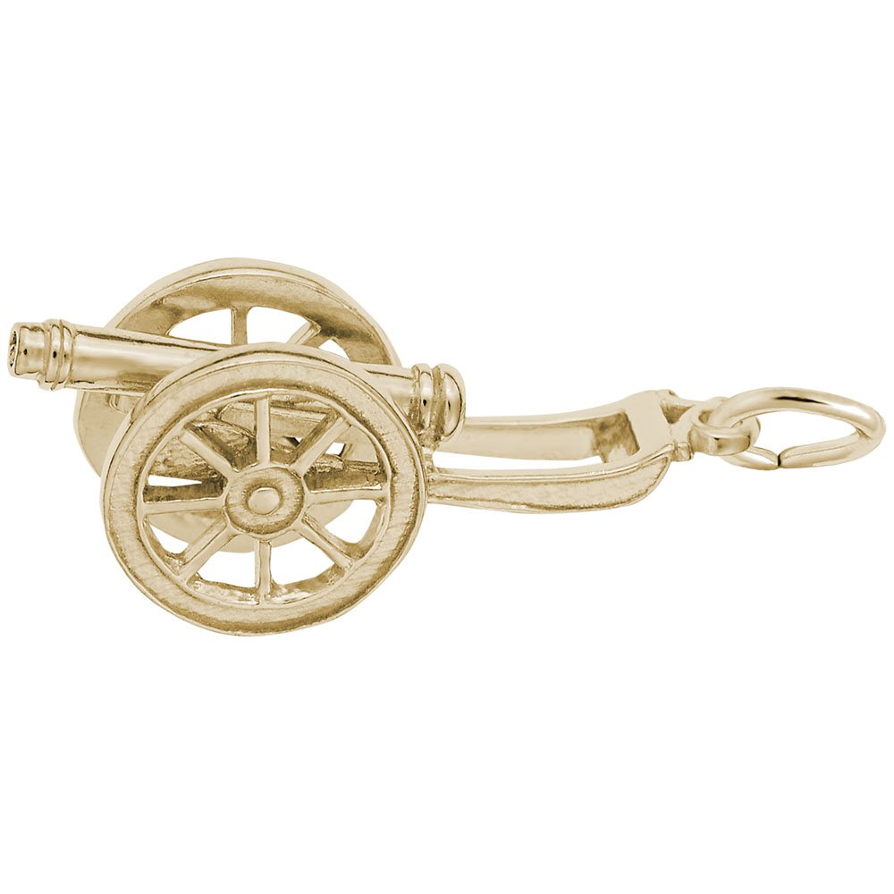 Charms for Bracelets and Necklaces 10k Yellow Gold Cannon Charm