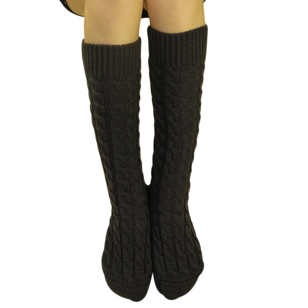 ホットセールレディースKnee Boot Socks、jushyeレディースニットロングブーツソックス膝上ストッキングニットHangingボールソックス B077Z7QSP6 B B