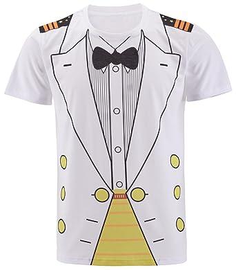 d90fd7577 Cosavorock Men's Sailor and Navy Costume T-Shirts: Amazon.co.uk ...