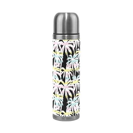 ALAZA Palm Árbol botella de agua acero inoxidable con ...