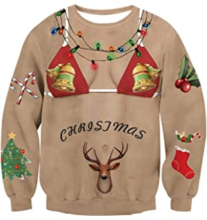 dace14828 Amazon.com  Winsummer Men Women Ugly Christmas Pullover Sweatshirts ...