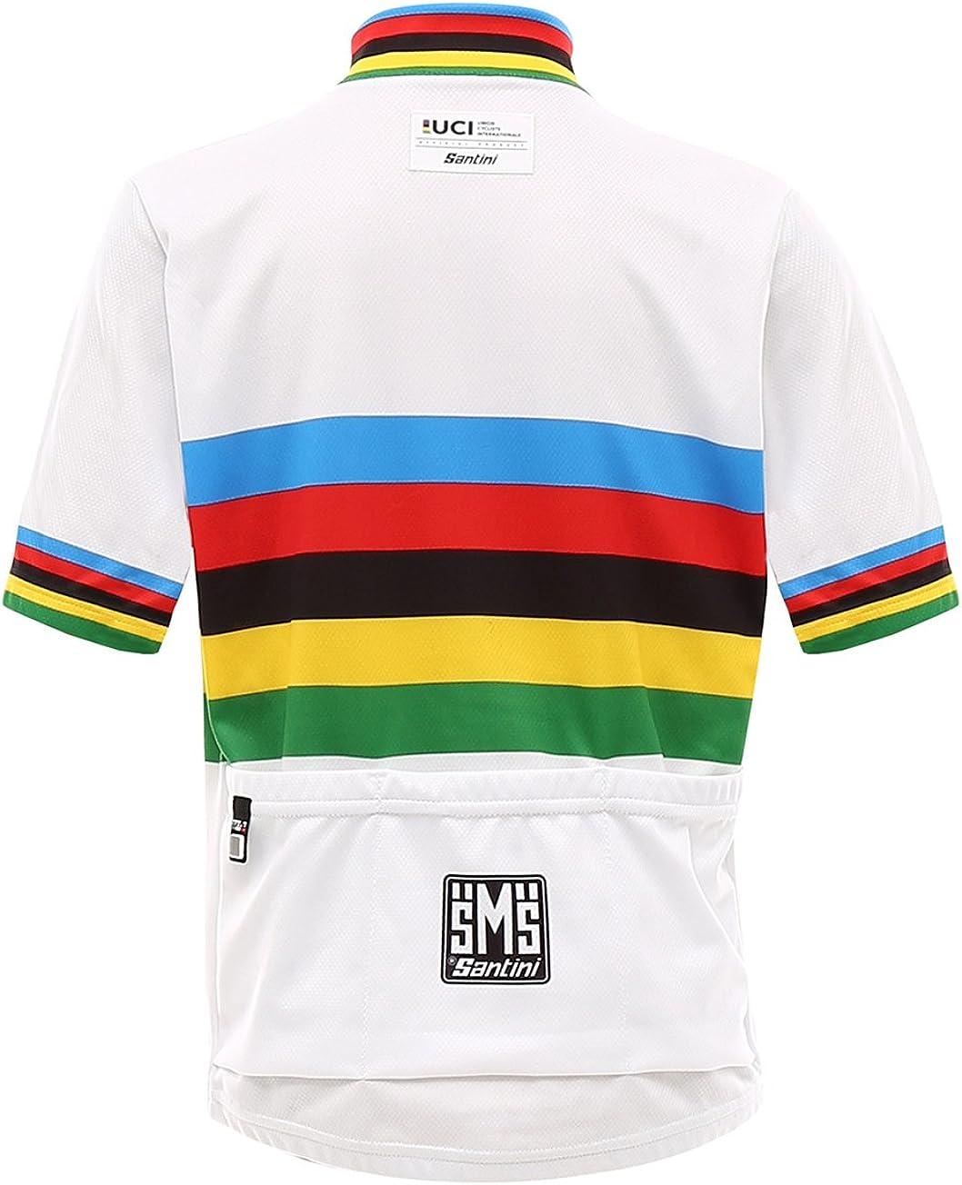 Santini UCI Campione del Mondo Maglia Manica Corta Uomo