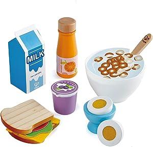 Hape Delicious Breakfast Playset, Pretend Play Food Set