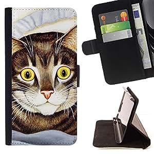Momo Phone Case / Flip Funda de Cuero Case Cover - Pintura del gato de Shorthair del americano feliz; - LG G4c Curve H522Y (G4 MINI), NOT FOR LG G4