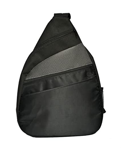 Convenient One Strap Backpack Sport Backpack Multipurpose Backpack (Black).  Roll over image to zoom in. Shop123go-Backpack Bag beb4e354c4513