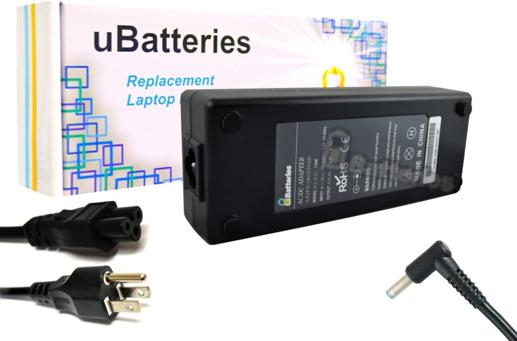 UBatteries Compatible 19.5V 120W AC Adapter Charger Replacement for HP Envy 15 17 17t 17z, HP OMEN 15 5000 5100 5200 740243-001 732811-001 732811-002 732811-003 Series