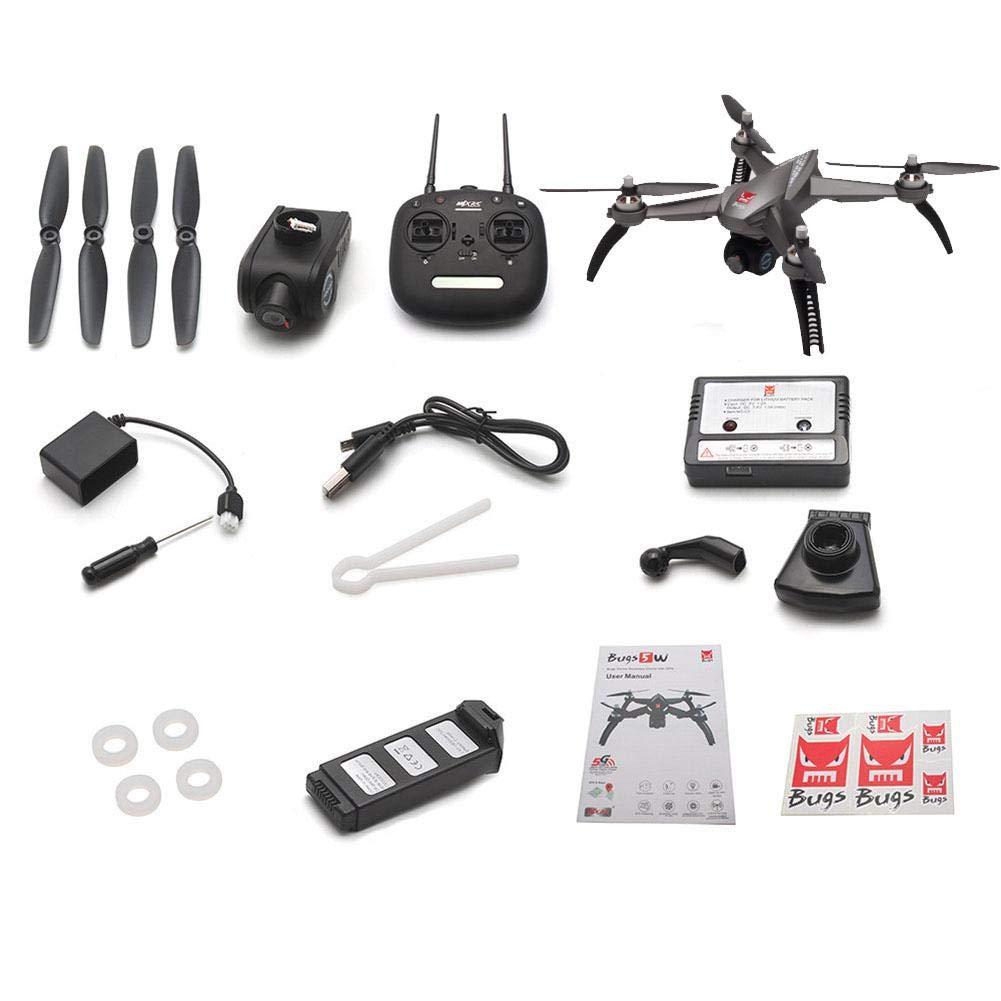 Oddity RC Quadcopter dron GPS RC dron Modelo Conjuntos de diseño con 5 W b5 W 1080P 5 G WiFi FPV de cámara (Negro)