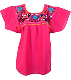 Amazon.com: Identidad étnica Blusa mexicana Puebla: Clothing