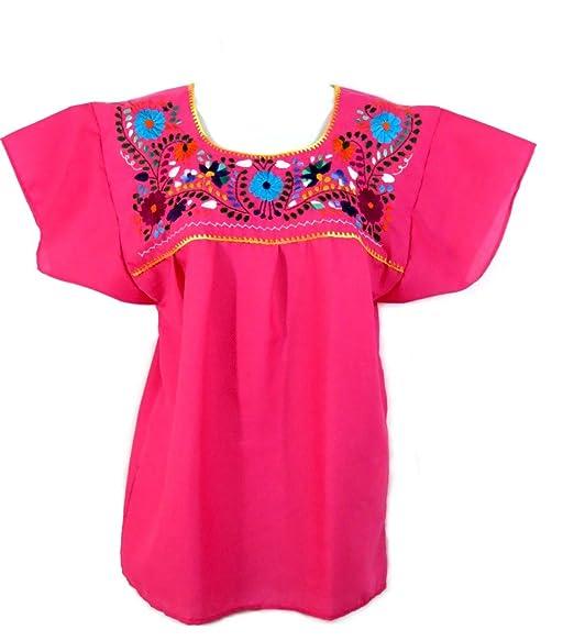 Amazon.com: Leos Mexican Imports Blusa Puebla Mexicana: Clothing