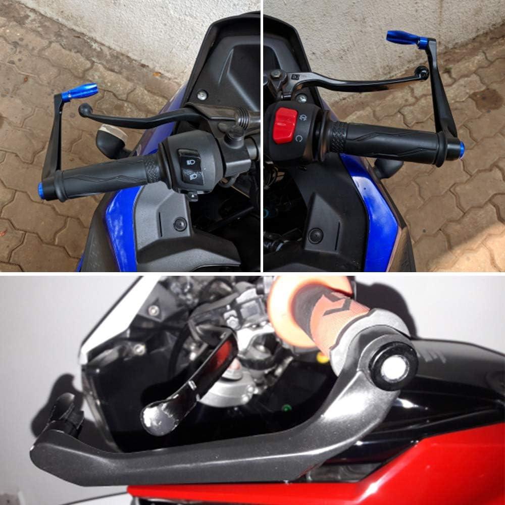 KKmoon Motorrad Lenker Schutz Aluminium Brems Kupplungshebel Schutz f/ür Honda yamah Suzuki Kawasaki KTM