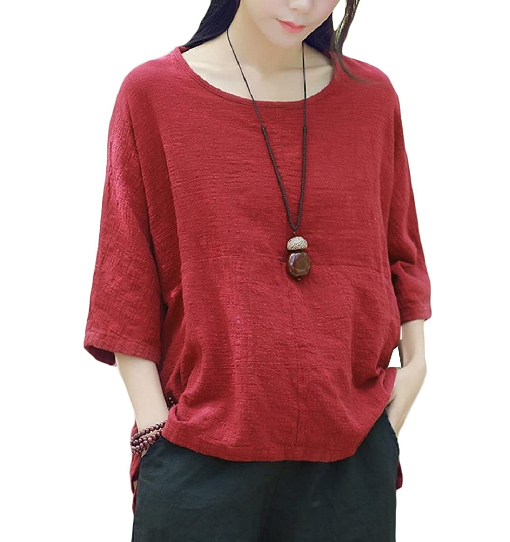 YUNY Men Cozy Relaxed-Fit Loose-Fit Plus-Size Solid Color Tunic Shirt AS1 XL