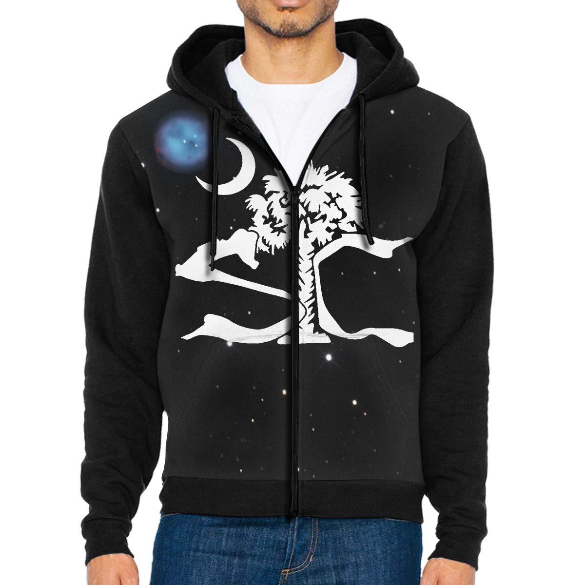 SC South Carolina Palm Mens Full-Zip Hoodie Jacket Pullover Sweatshirt