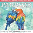 Parrots: Travel Size Expert Level Adult Coloring Book (Continuous Line Drawings Coloring Books Series) (Volume 4)