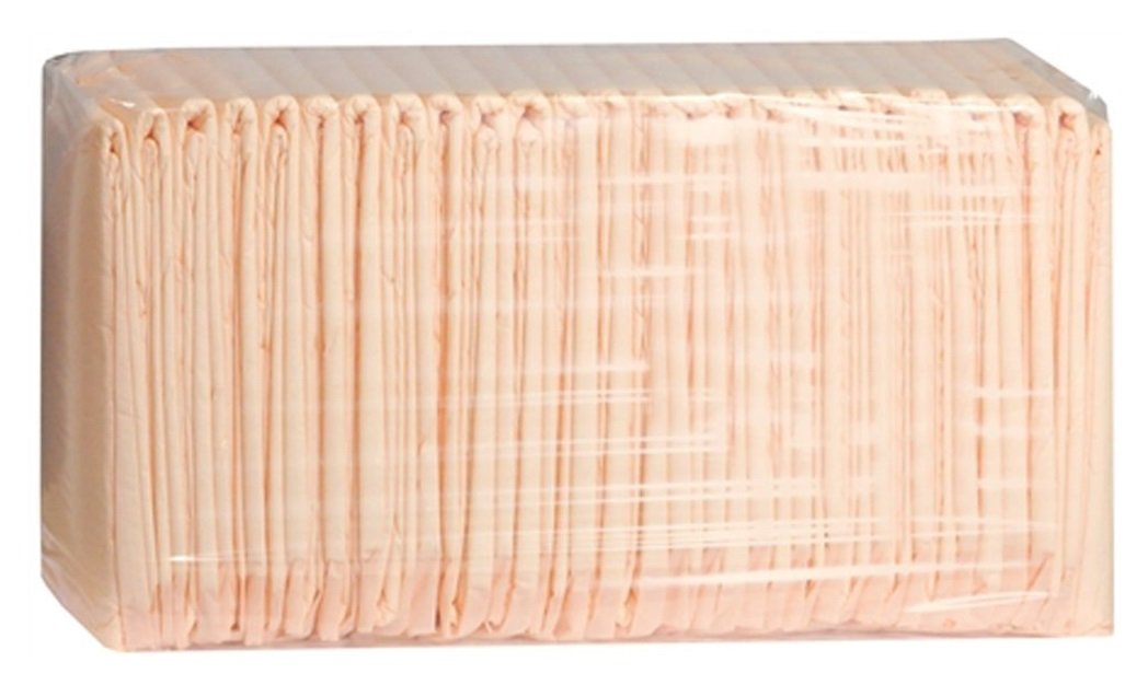 Prevail Super Absorbent Disposable Underpads 30'' x 36'', Peach color, Case of 100(4 bags of 25)