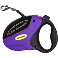 Heavy Duty Retractable Dog Leash by Hertzko - Great for Small, Medium & Large Dogs up to 110lbs - Strong Nylon Ribbon…