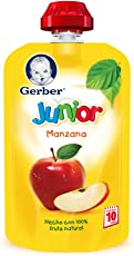 Gerber Junior Snack Manzana, Etapa 4 (Paquete de 12)