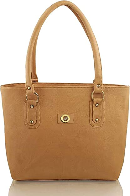 Flora Premium PU Leather Women s Handbag (Light Brown Color)  Amazon.in   Shoes   Handbags 1b8702f08af50