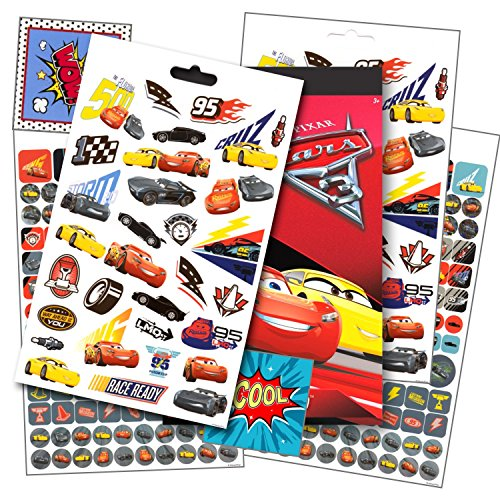 Disney Cars 3 Stickers - Over 295 Disney Cars Stickers Bundled with Specialty Separately Licensed GWW Reward -