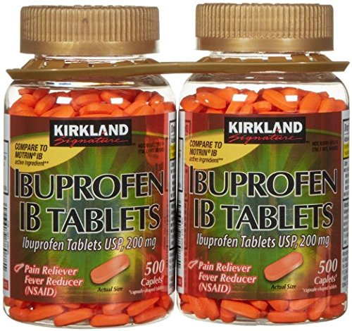 Kirkland Signature Ibuprofen IB 200 mg Tablets 1000 Count