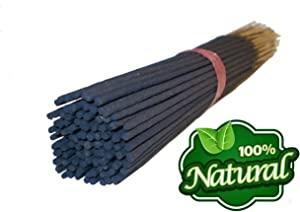 Bless-Frankincense-and-Myrrh 100%-Natural-Incense-Sticks Handmade-Hand-Dipped The-best-woods-scent-100-sticks-pack (Without Incense Holder)