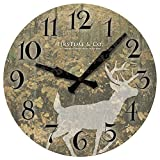 15.5 in. Round Forest Deer Wall Clock
