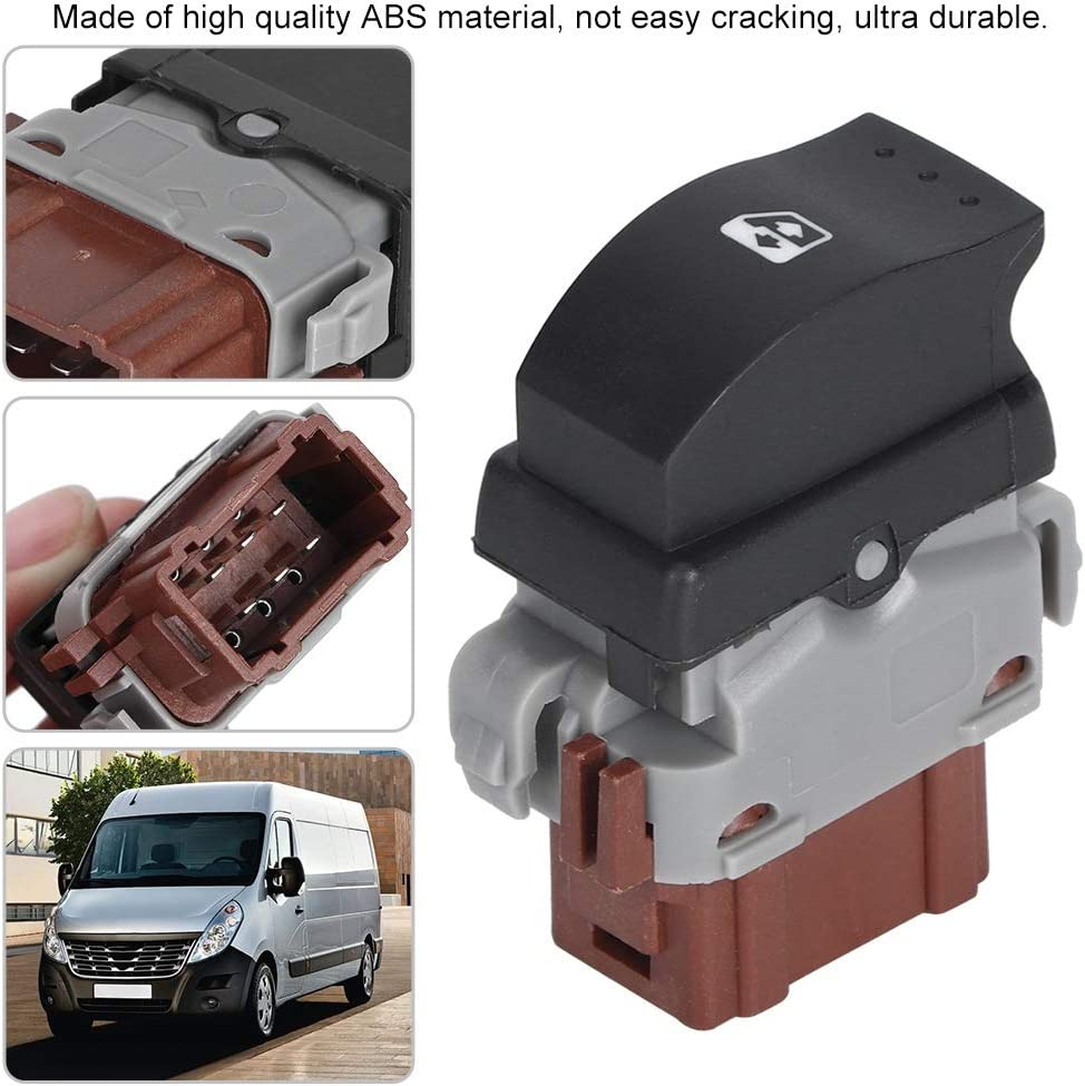 Alinory Interruttore alzacristalli elettrici Interruttore alzacristallo Elettrico per alzacristallo Elettrico Adatto per Renault II 8200242600