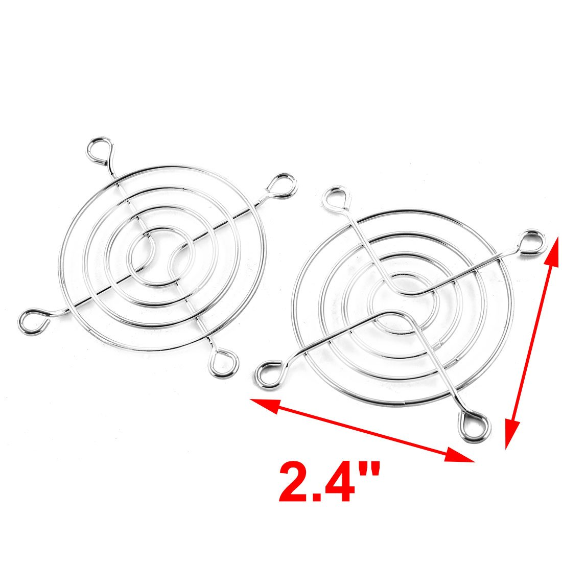 Dealmux 5 X Axial 60mm Cooling Fan Grill Metal Wire Finger Guards Uxcell Wiring Diagram Silver Tone Dlm