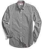 Goodthreads Men's Standard-Fit Long-Sleeve Gingham Plaid Poplin Shirt, Green/White Micro Check, XX-Large