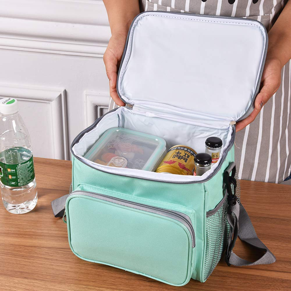 Termica Porta Alimentos con Correa Nevera Portatil Bolsa de Almuerzo para Adulto Babe Ni/ños Trabajo Escuela Viaje Hombre Mujere Azul ANTUU Bolsa T/érmica Comida 10L