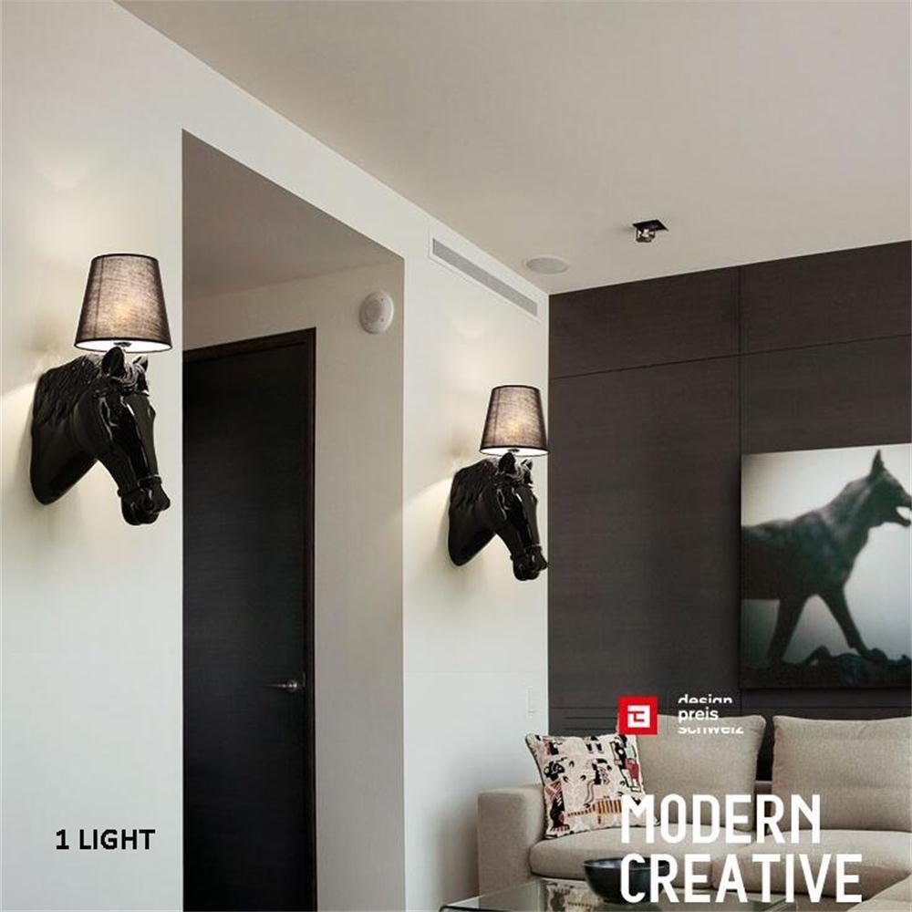 GBT  Kreative ModernContinental Hotel Foyer Flur Flur Flur Schlafzimmer Nacht Harz Pferd Wandleuchte Nachtlicht,Weiß B076KD6HBZ | Ausgezeichnete Qualität  f361be