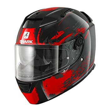 Shark Speed de R 2 Duke Moto Casco schwarz-rot-anthrazit Talla:XS