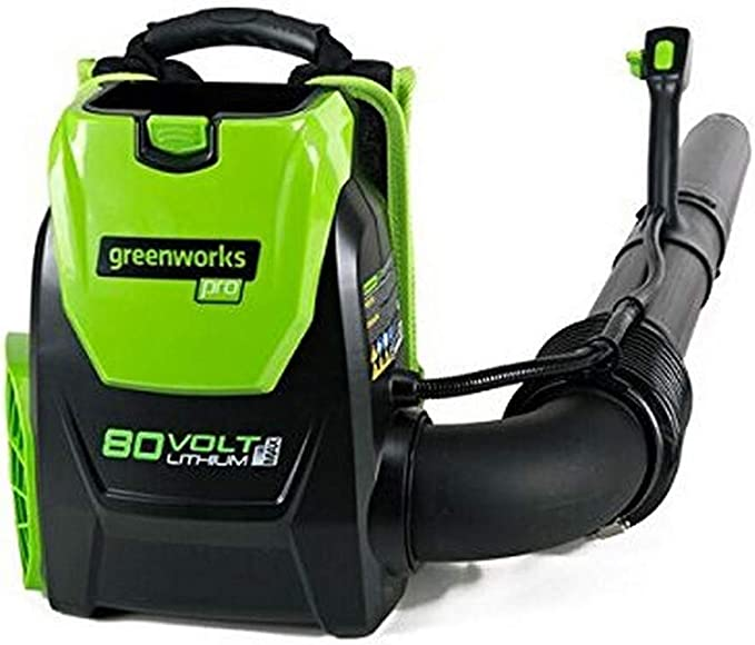 Amazon.com : Greenworks 80V 145MPH - 580CFM Cordless Backpack Leaf Blower, Battery and Charger Not Included BPB80L00