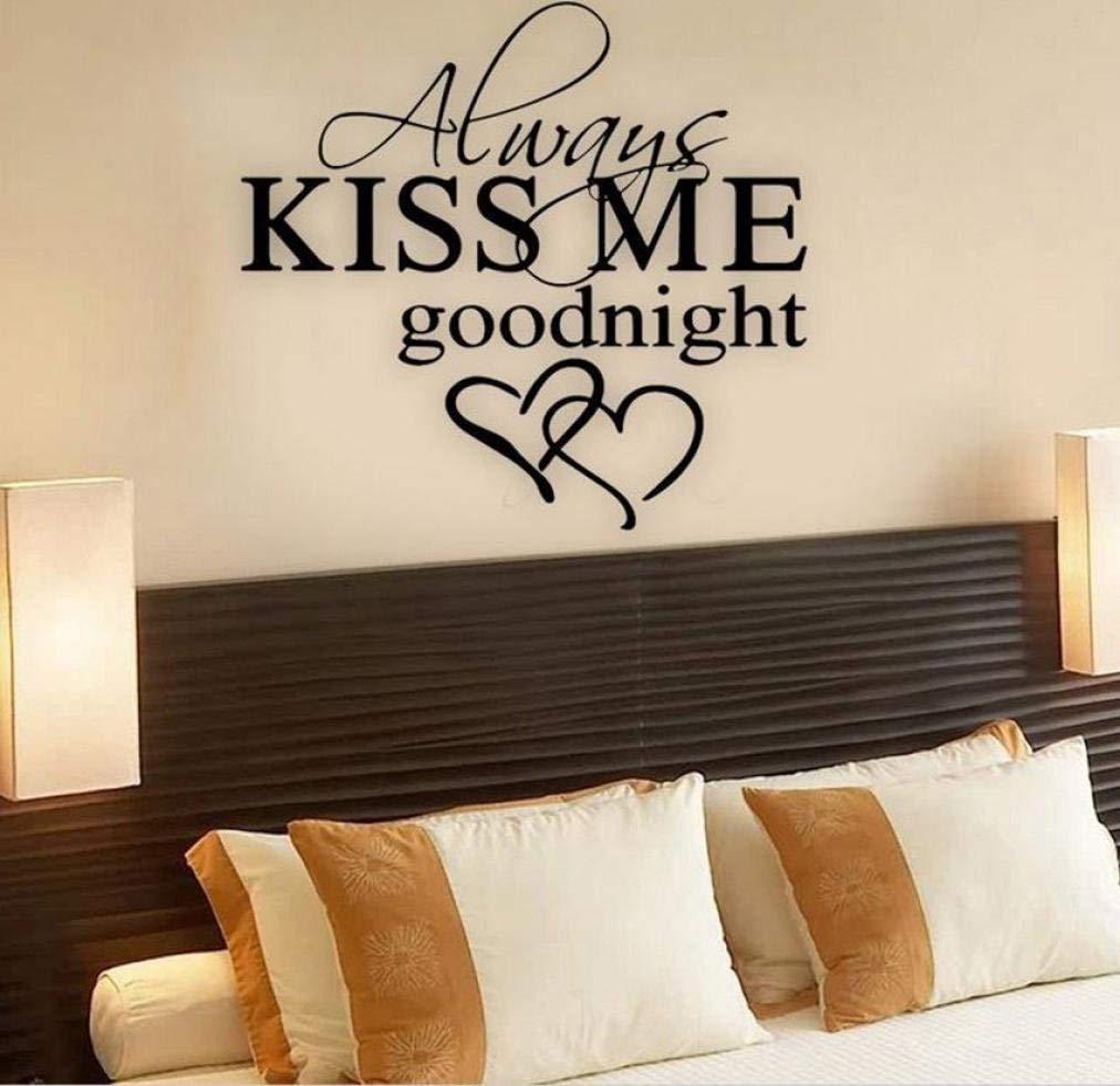 Amazon Dingji Wall Sticker Always Kiss Me Goodnight Wall
