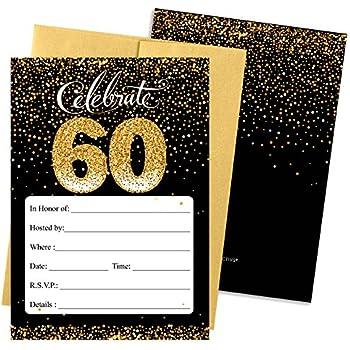 amazon com 8 count party invitations vintage dude 60th birthday
