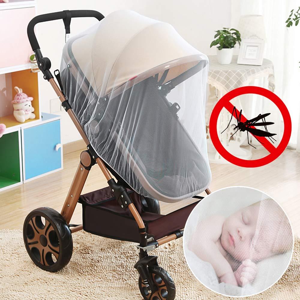 Moskitonetz Extra Gross M/ückennetz Feinmaschig Rei/ßfest Insektenschutz mit Gummizug f/ür Kinderwagen//Babywagen//Buggy(2St/ücke)