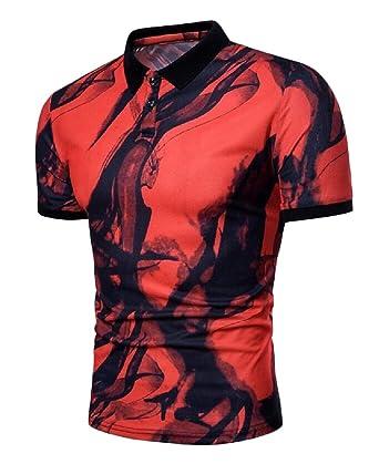 Cromoncent Mens Tee Short Sleeve Cotton Print Top T-Shirt
