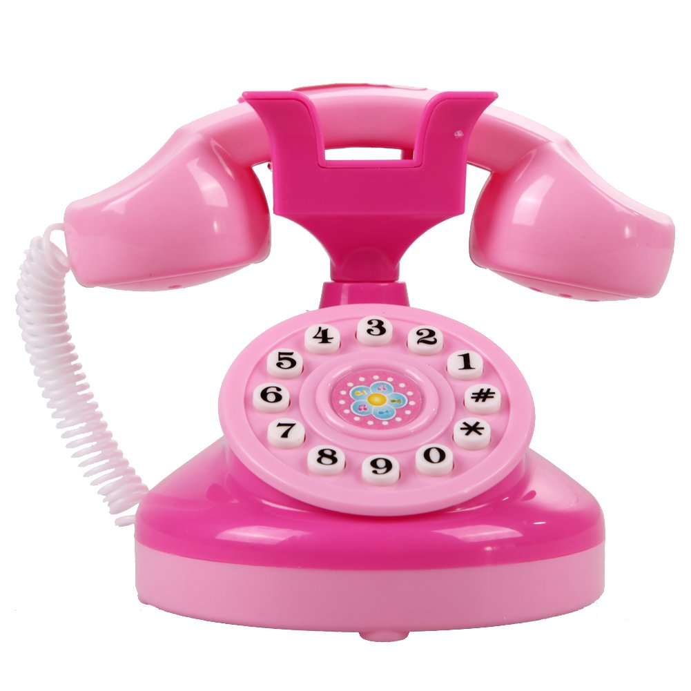 Educational Emulational Pink Phone Pretend Play Toys