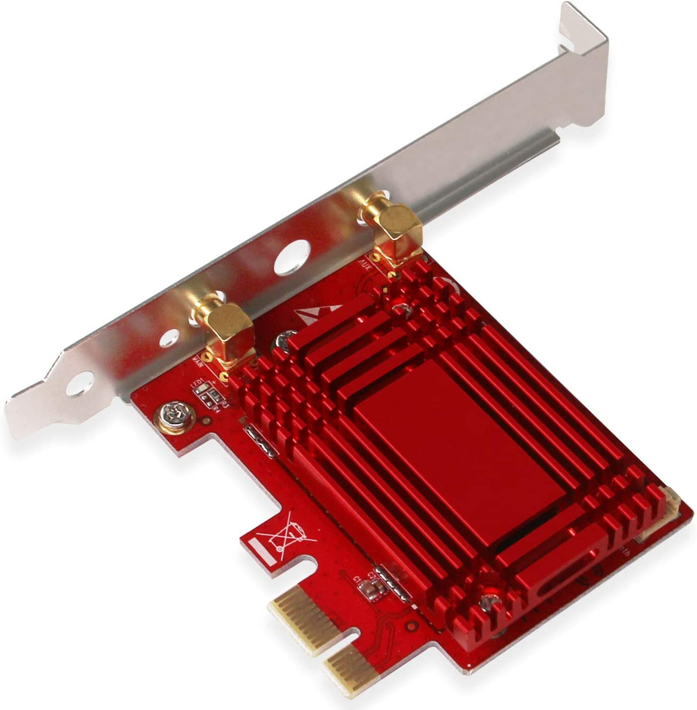 FebSmart PCIE Wireless AC Network Bluetooth Card for Windows 10 64bit and Linux Kernel 4.14 Systems-2.4GHz 300Mbps or 5GHz 1.73Gbps Max Speed-Bluetooth 5.0-Based on Intel Wireless-AC 9260 NGW AC2030