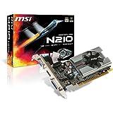MSI N210-MD1G/D3 GeForce 210 Graphic Card - 589 MHz Core - 1 GB GDDR3 SDRAM - PCI Express 2.0 x16 - Low-profile - 1000 MHz Memory Clock - 2560 x 1600 - DirectX 10.1, OpenGL 3.1 - HDMI - DVI - VGA - N210-MD1G/D3