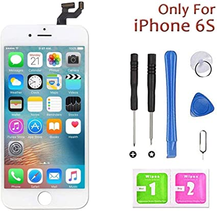 with Free Tools Kit LCD Display /& Touch Screen Digitizer Replacement Full Assembly for iPhone 6 White 4.7 inch for iPhone 6 Screen Replacement