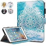 iPad Mini Case,Mini 2/3 Case Monstek(TM) Leather Smart Kickstand Case Cover Colorful Flip Wallet Protective Case for Apple iPad Mini 1 2 3 - 01 Mandala